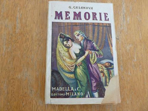 G. Casanova - Memorie - 1929