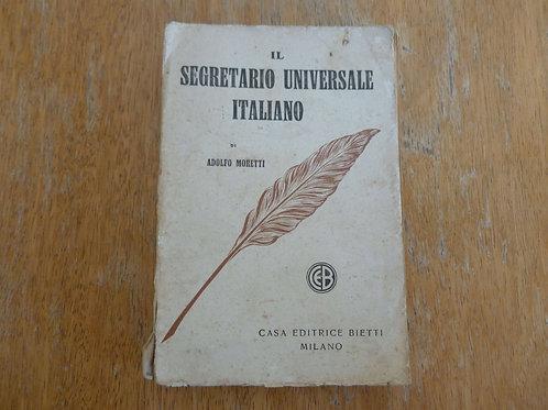 A. Moretti - Il segretario universale - 1935