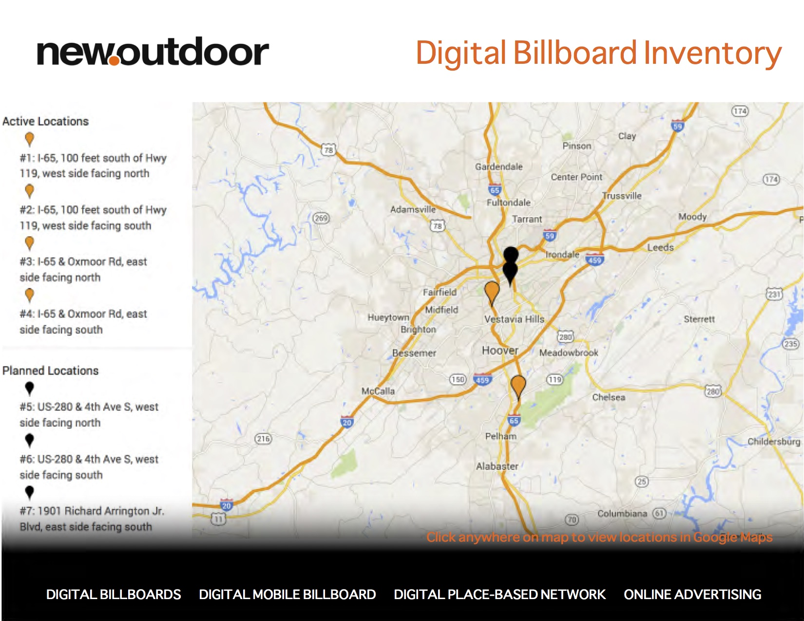 New Point Outdoor - Digital Billboard Inventory