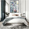 Interior Design Large Scale Abstract Art by Chantal Lebanc Artist