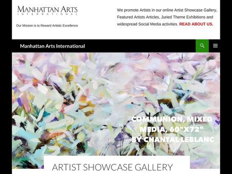 My Art Showcased by Manhattan Arts International