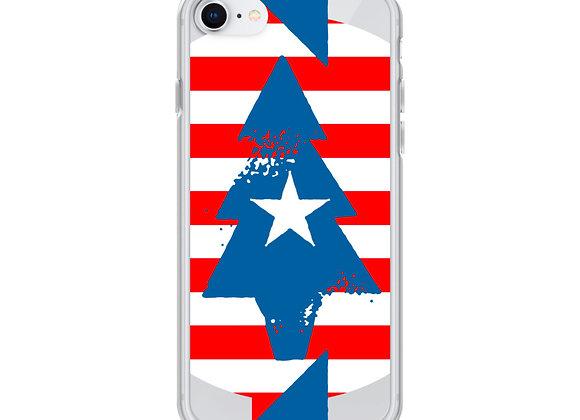 Patriotic Peace Tree iPhone Case