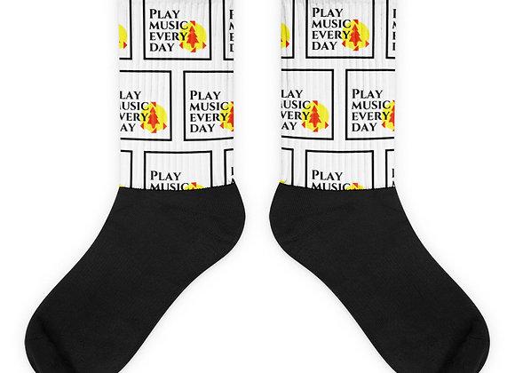 Kid Rocker Play Music Every Day Socks