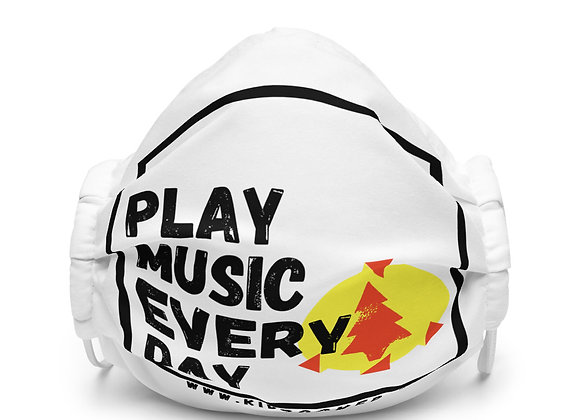 Play Music Every Day face mask (White)