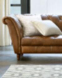 Spacious bright sunny living room interi