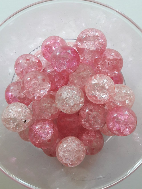 3 perles en verre éclaté Ø14