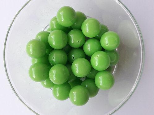 5 perles vert pomme Ø13
