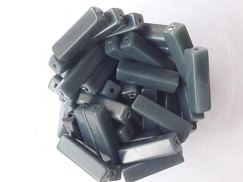 28 tubes section carrée longueur 18 mm bleu foncé