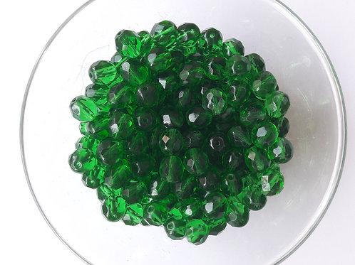 10 perles ovales à facettes verre de bohême Ø8