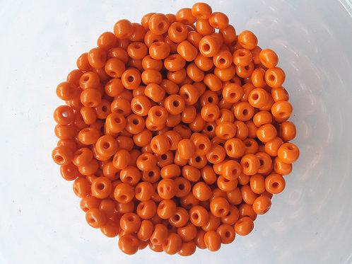 1 tube de grosse rocaille orange opaque
