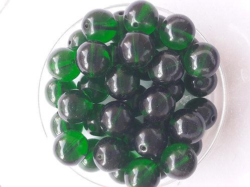 4 perles transparente Ø10