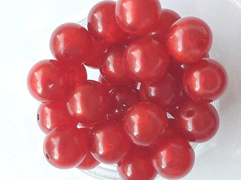 18 perles rouges Ø10