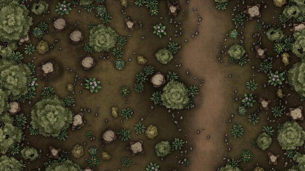 Forest Path Battlemap