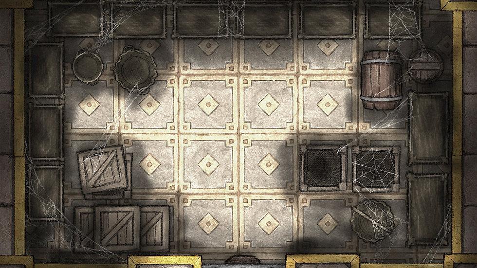 The False King's Vault Battlemap