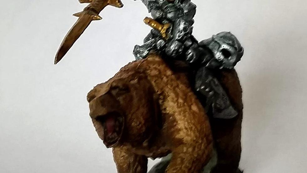 Dwarven Bear Rider (Miniature Painting)