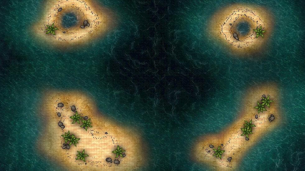 Broken Smile Islands Battlemap