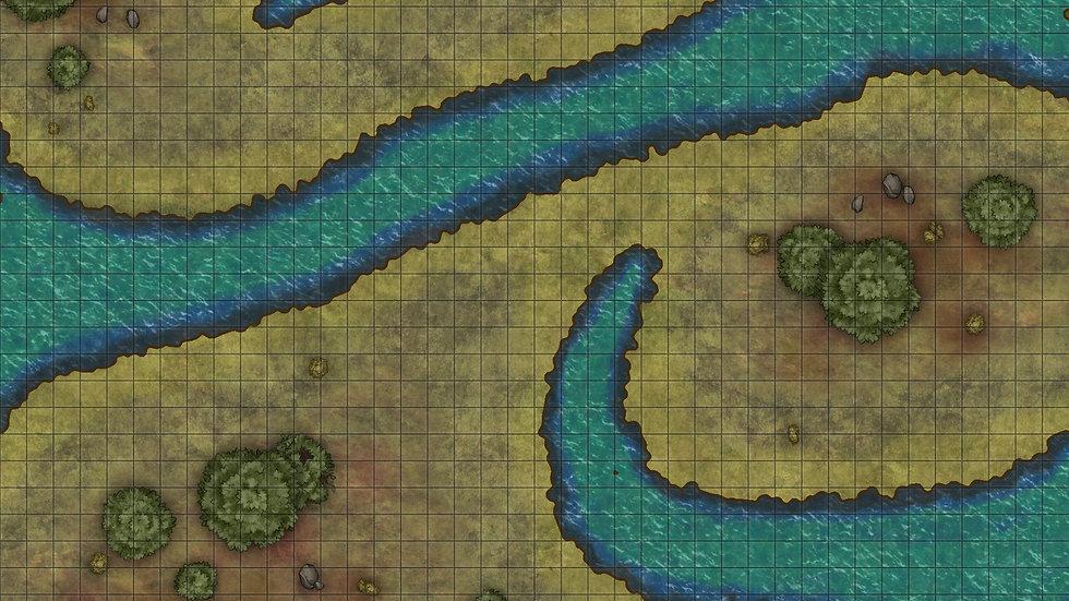 Tentacle Rivers Battlemap