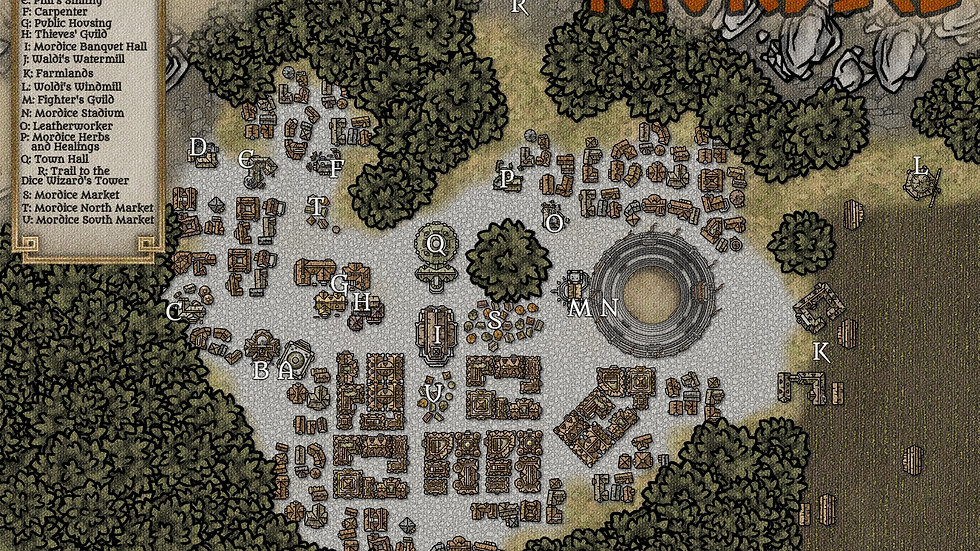 City of Mordice Battlemap