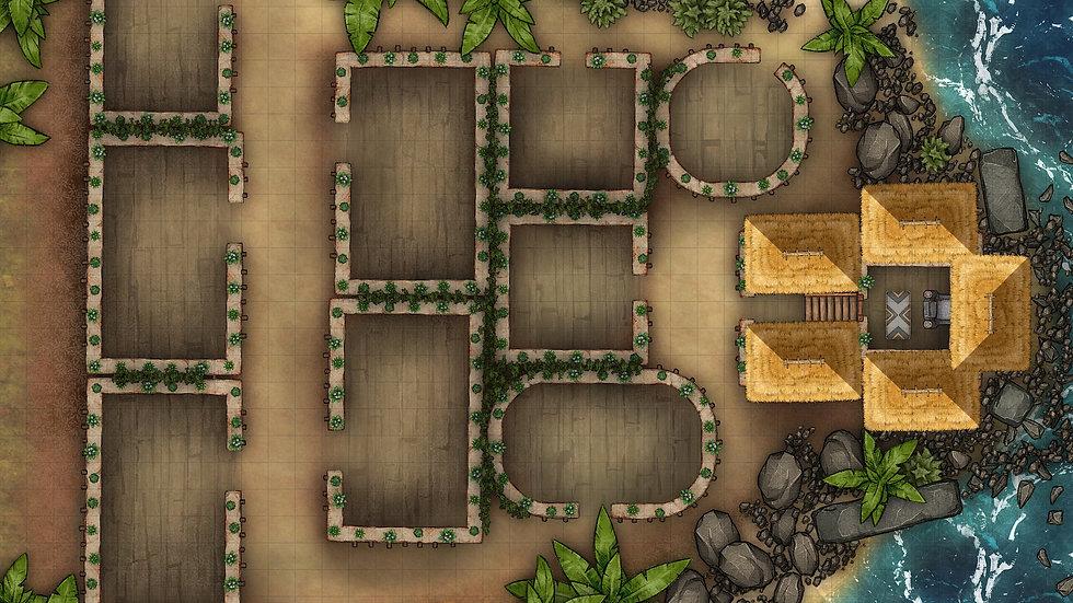 Beach Town 2 Battlemap