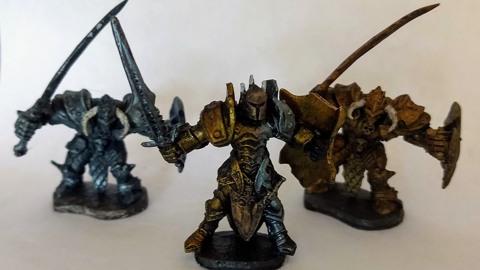 Evil King and Living Statues (Miniature Painting)