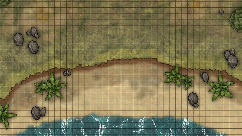 Beach Face 1 Battlemap