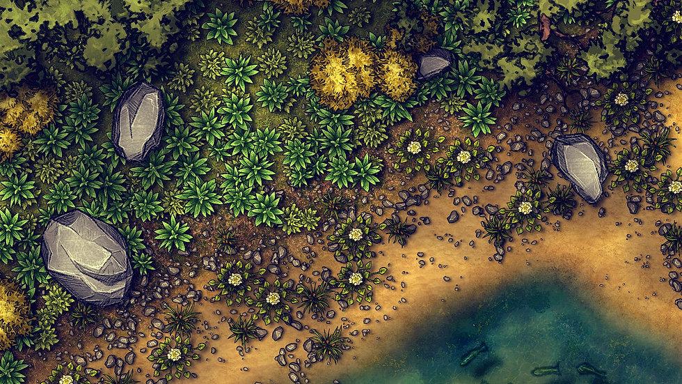 Fishing Hole Battlemap