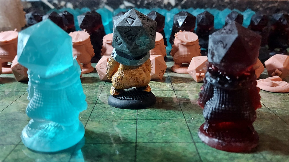 It's a Madth World: Clyde, The Dice Guardian (3d Printed Miniature)