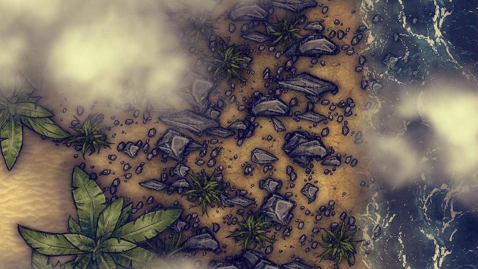 Sharp Rock Shores Battlemap