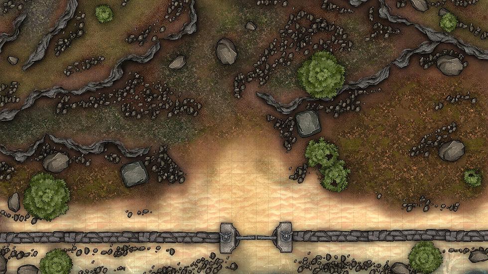Face of the Beach Battlemap