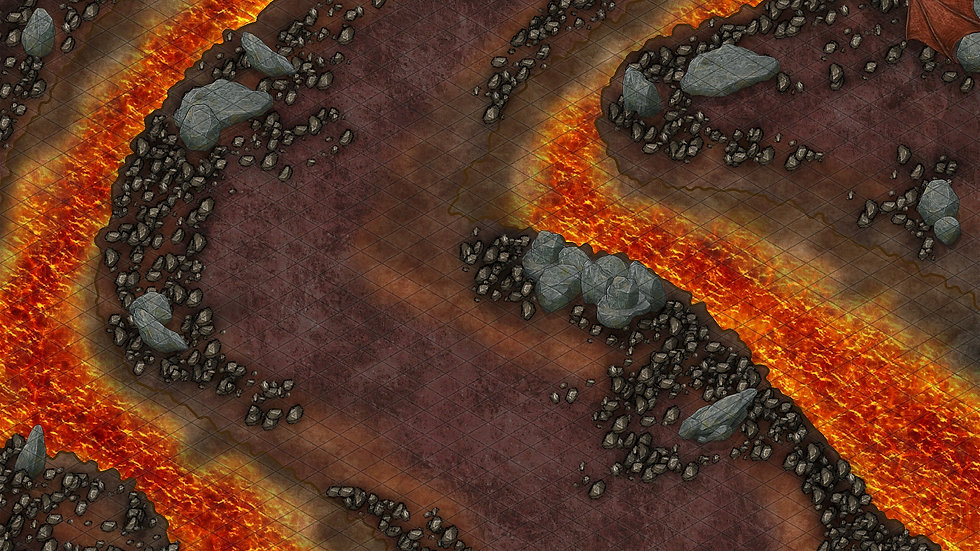 The Fire Dragon's Lair 2 Battlemap