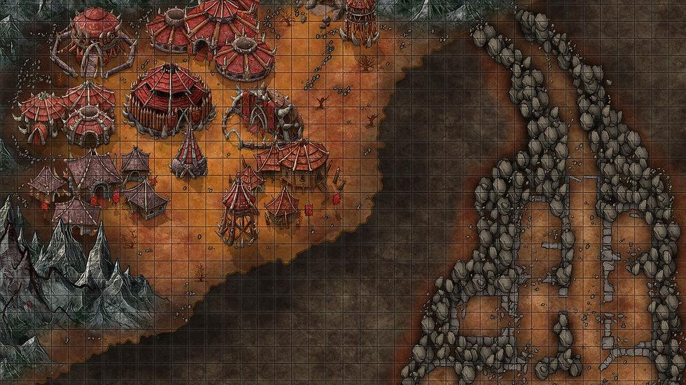 Orc Outpost City/Battlemap