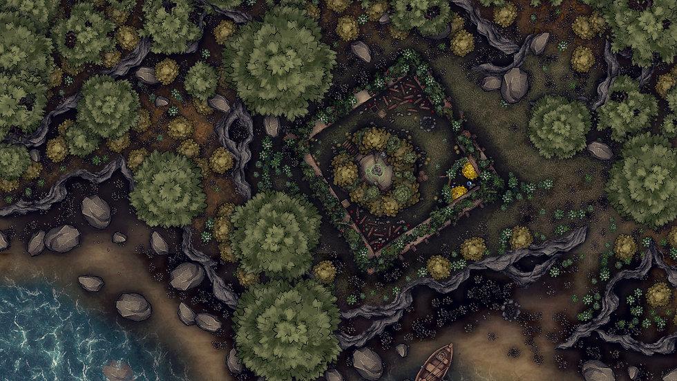 The Druid's Home Battlemap