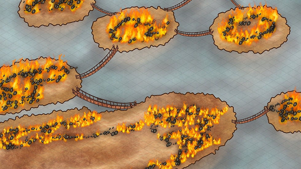 Floating Fire Islands Battlemap