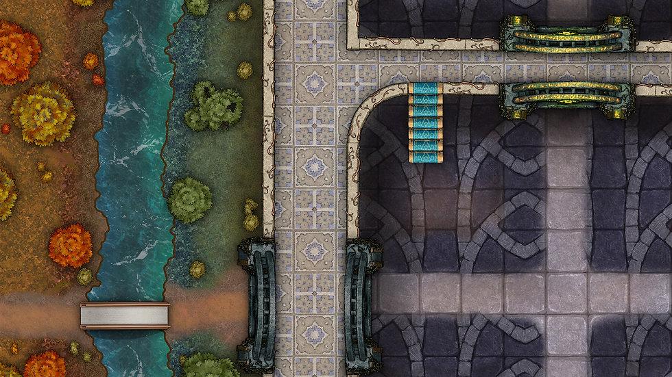 Elven Gate Battlemap