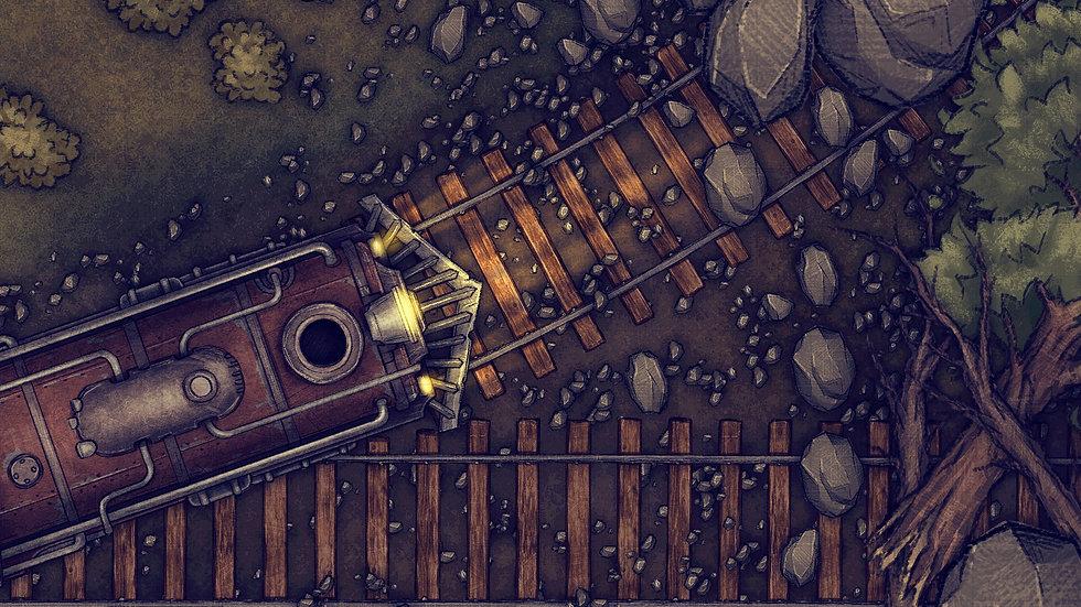 Train Heist Battlemap