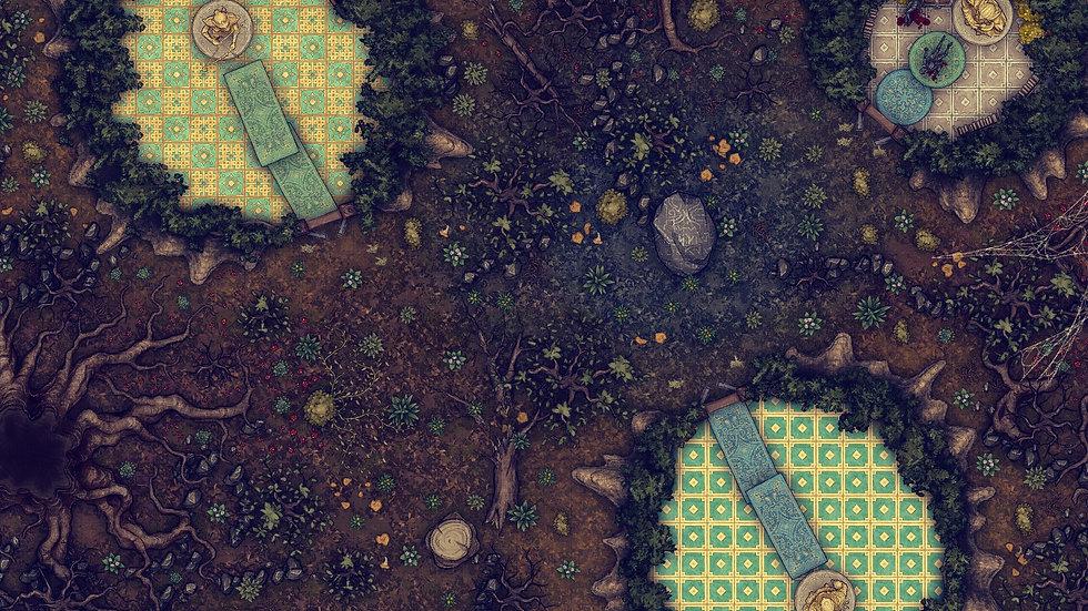 The Wood Elves Trap Battlemap
