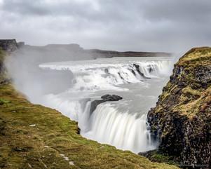 The Golden waterfall, Gullfoss, Iceland