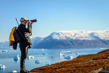 On guard, Scoresbysund, Greenland