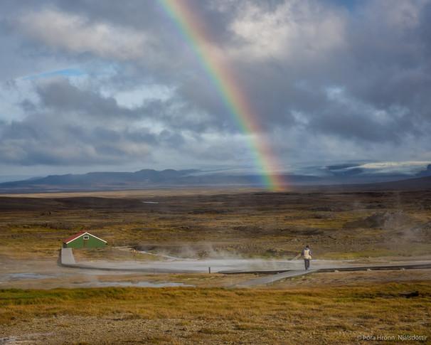 A Rainbow in Hveravellir, Iceland