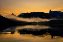 Sunset,Scoresbysund, Greenland