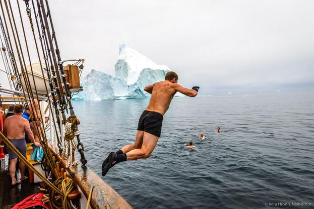 Swimming, Scoresbysund, Greenland