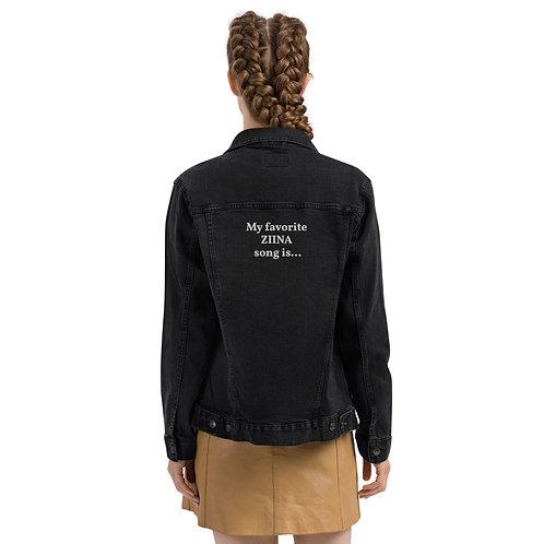 """My favorite ZIINA song is.."" Personalized Denim Jacket"