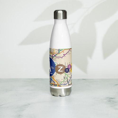 The AtoZiina Foundation Stainless Steel Water Bottle