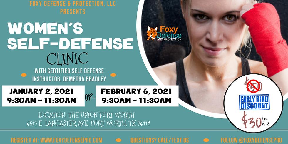 Women's Self Defense Clinic - JAN 2021