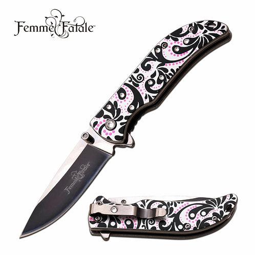 """""""Pink Floral"""" Knife"""
