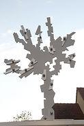 Géodésie : Sculpture de Jean-Claude Jourdan, mécénat d'entreprise 2015 Ris-Orangis