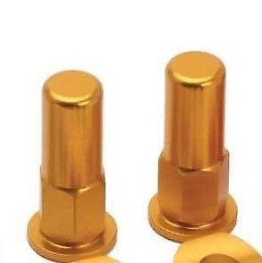 RIM LOCK NUTS & WASHERS CAPS GOLD