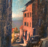 Narrow Street, the View from Cortona