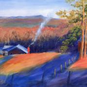Looking North: December Morning, Cherokee County Georgia