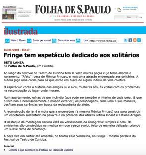 Folha Online - 26/03/2003